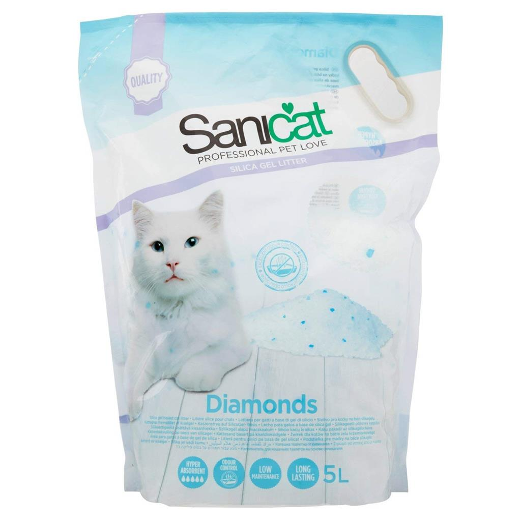 SaniCat Diamonds 5 L. (ca. 2,38 kg.) Silica Gel