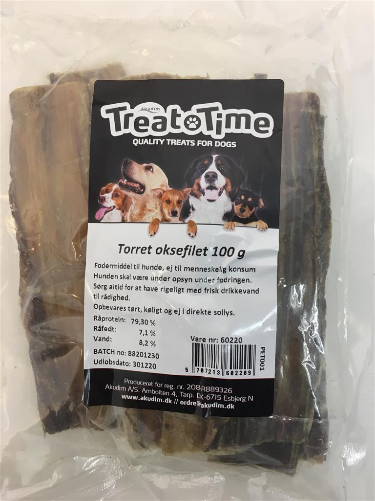 Tørret oksefilet 100 g.