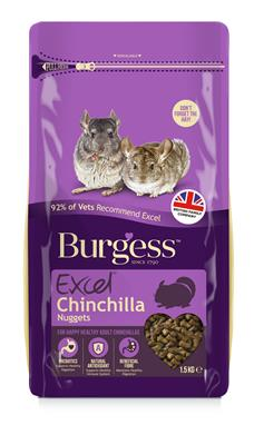 Burgess chinchilla nuggets 1,5 kg. KS á 4 stk.