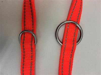 HuntingTime Dressurline nylon orange 20mm/250cm