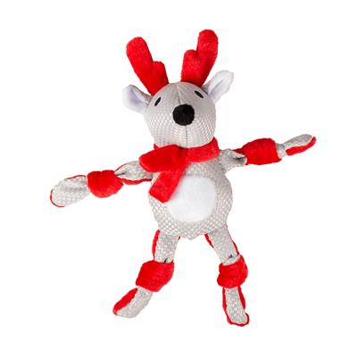 *XMAS PLUSH KNOTTED REINDEER31x14x8cm